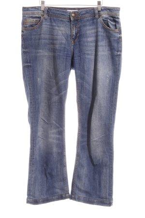 Opus Jeans a gamba dritta blu acciaio stile casual