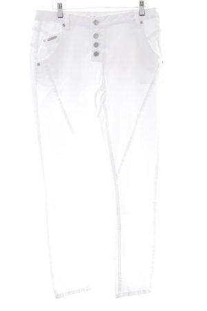 Opus Jeans a gamba dritta bianco stile casual