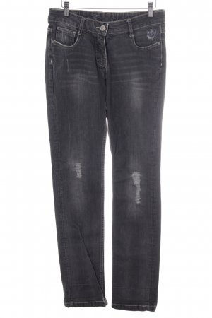 Opus Stretch Jeans grau Casual-Look