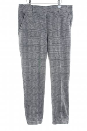 Opus Stretch Trousers light grey-black check pattern business style