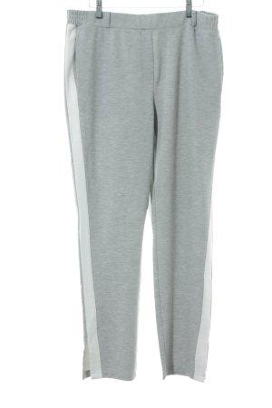 Opus Pantalon strech gris clair-blanc style décontracté