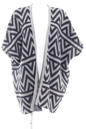 Opus Cardigan in maglia grigio-blu scuro motivo a zig-zag