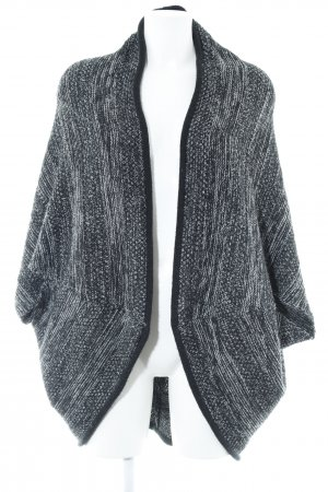 Opus Strick Cardigan schwarz-weiß Casual-Look