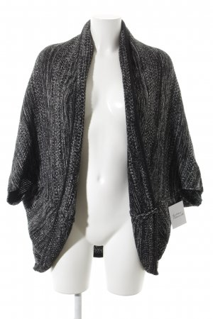 Opus Strick Cardigan schwarz-weiß meliert Casual-Look