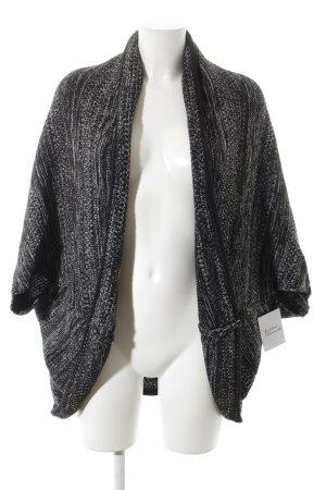 Opus Cardigan in maglia nero-bianco puntinato stile casual