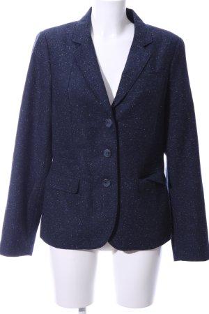 Opus Knitted Blazer blue flecked elegant