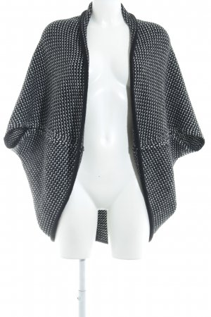 Opus Knitted Bolero black-white weave pattern casual look