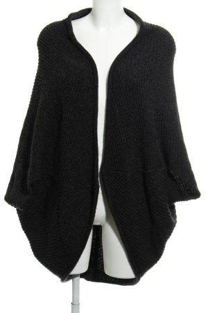 Opus Giacca in maglia antracite-grigio scuro puntinato stile casual