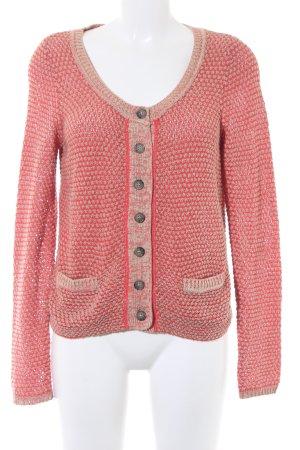Opus Giacca in maglia color cammello-rosso chiaro stile stravagante