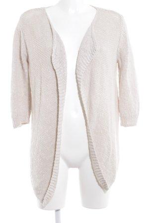 Opus Giacca in maglia crema Motivo a maglia leggera look vintage