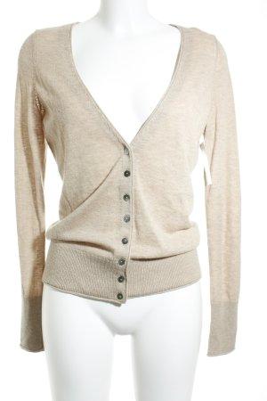 Opus Giacca in maglia marrone chiaro stile casual