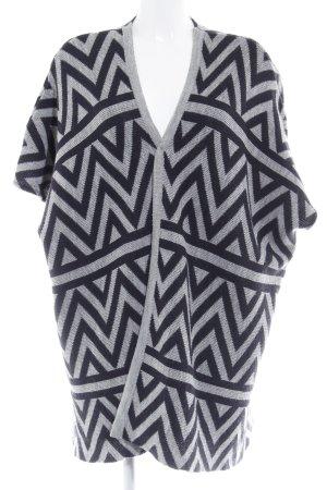 Opus Strickjacke schwarz-grau abstraktes Muster Casual-Look