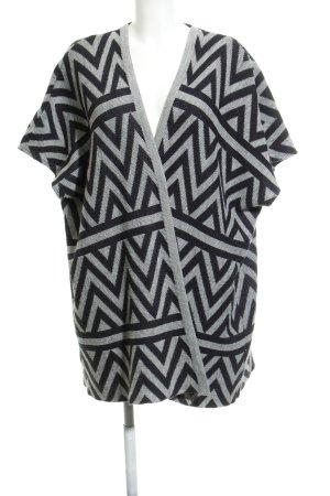 Opus Giacca in maglia nero-grigio chiaro motivo a zig-zag stile casual