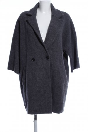 Opus Knitted Coat light grey flecked business style