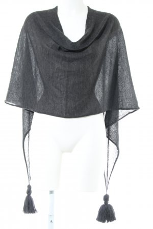 Opus Knitted Poncho black casual look