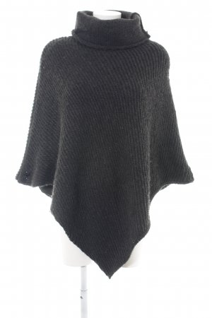 Opus Knitted Poncho black cable stitch casual look