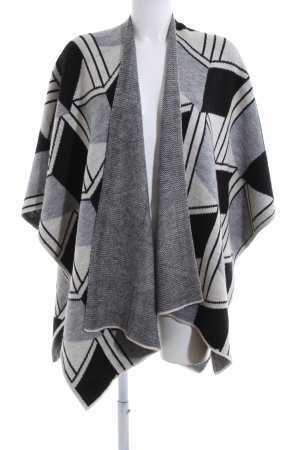 Opus Knitted Poncho black-light grey allover print casual look