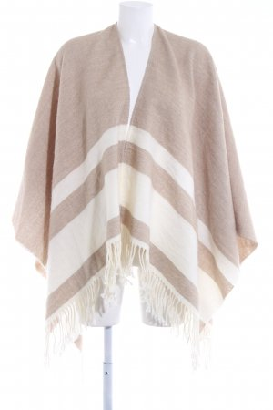 Opus Strickponcho camel-weiß Casual-Look