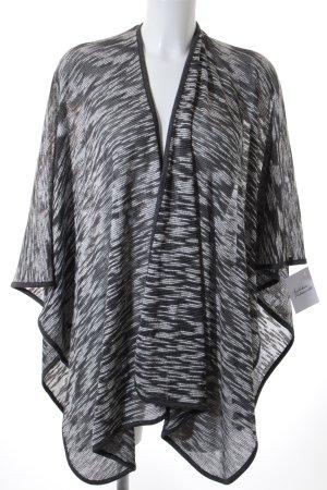 Opus Strickponcho schwarz-weiß Farbverlauf Casual-Look