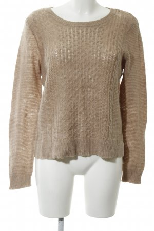 Opus Strickpullover nude Zopfmuster Casual-Look