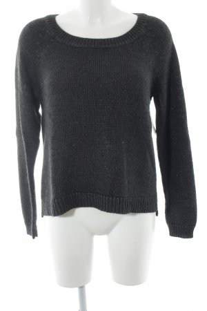 Opus Strickpullover anthrazit-silberfarben Casual-Look