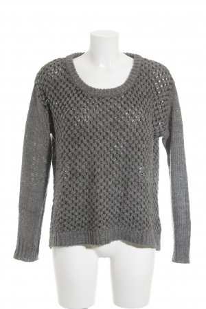 Opus Strickpullover grau-anthrazit Casual-Look