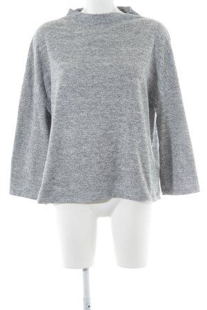 Opus Strickpullover hellgrau-grau schlichter Stil