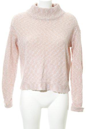 Opus Strickpullover rosé-weiß Casual-Look