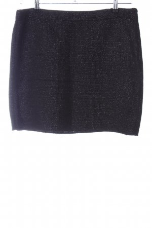 Opus Knitted Skirt black flecked casual look