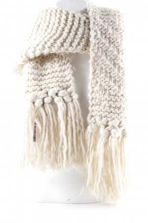 Opus Gebreide sjaal wolwit casual uitstraling