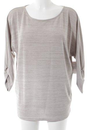 Opus Camisa tejida beige-blanco puro moteado look casual