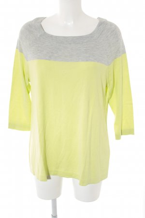 Opus Camisa tejida gris claro-amarillo limón look casual