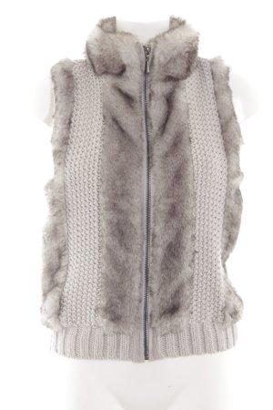 Opus Gilet tricoté argenté-gris clair style décontracté