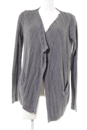 Opus Knitted Vest grey-dark grey weave pattern casual look
