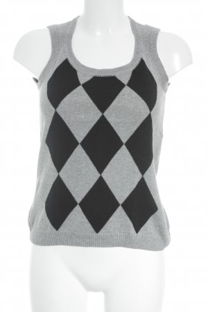 Opus Knitted Vest grey-black business style