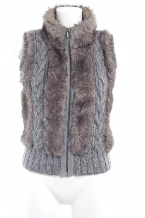 Opus Knitted Vest grey cable stitch casual look