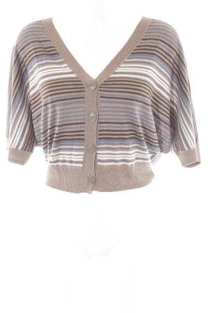 Opus Knitted Vest light brown-dark blue striped pattern casual look