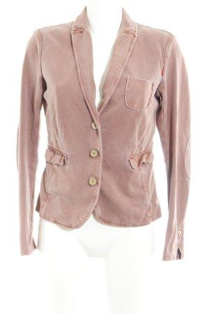 Opus Blazer de tela de sudadera rosa empolvado look vintage