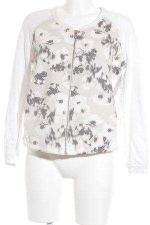 Opus Sweatjacke florales Muster Casual-Look