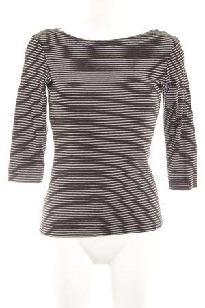 Opus Sweatshirt schwarz-weiß Streifenmuster sportlicher Stil