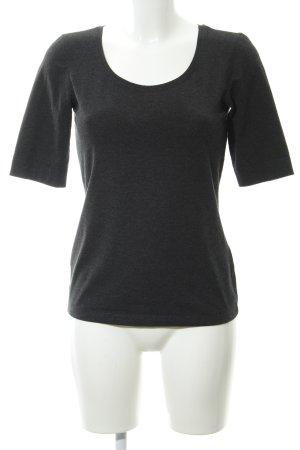 Opus T-shirt antracite puntinato stile casual