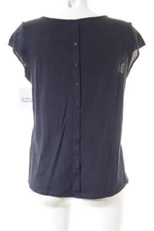 Opus T-Shirt blau-dunkelblau florales Muster Casual-Look