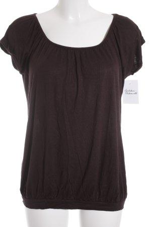 Opus T-Shirt braunviolett Casual-Look