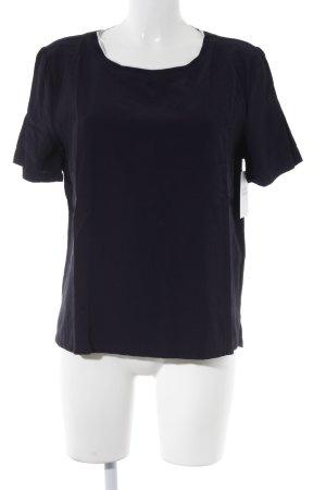 Opus T-Shirt dunkelblau-weiß Casual-Look