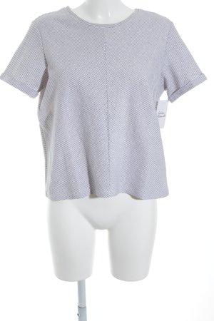 Opus T-Shirt dunkelblau-weiß Streifenmuster Casual-Look
