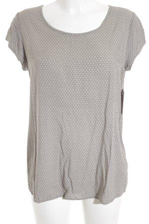 Opus T-Shirt grau Punktemuster Casual-Look