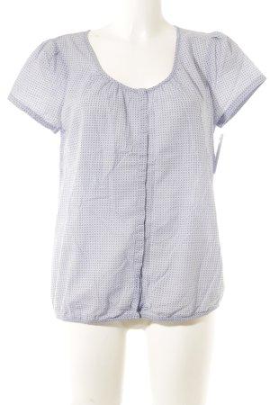 Opus T-Shirt himmelblau-stahlblau abstraktes Muster Casual-Look