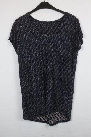 Opus Lang shirt donkerblauw-wolwit Viscose