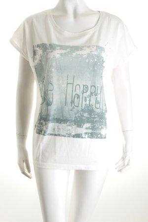 Opus T-Shirt Schriftzug gedruckt Casual-Look
