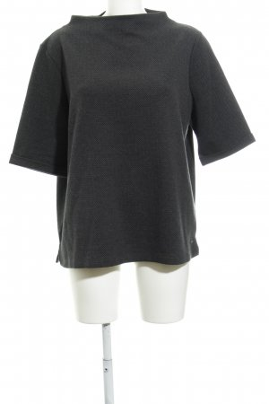 Opus T-Shirt schwarz-grau abstraktes Muster schlichter Stil